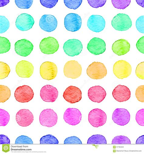 dot pattern colour seamless watercolor dots pattern stock vector