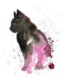 water color cat cat by dimdi original watercolor painting 8x10inch