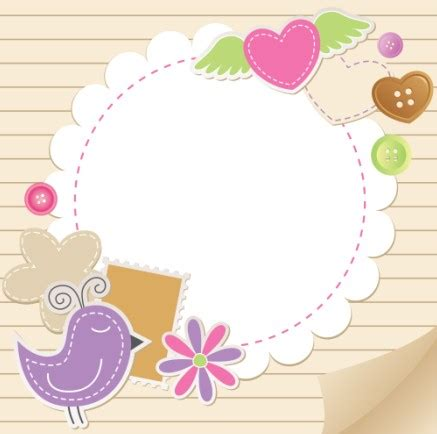 design frame baby cute baby backgrounds vector 02 vector background free