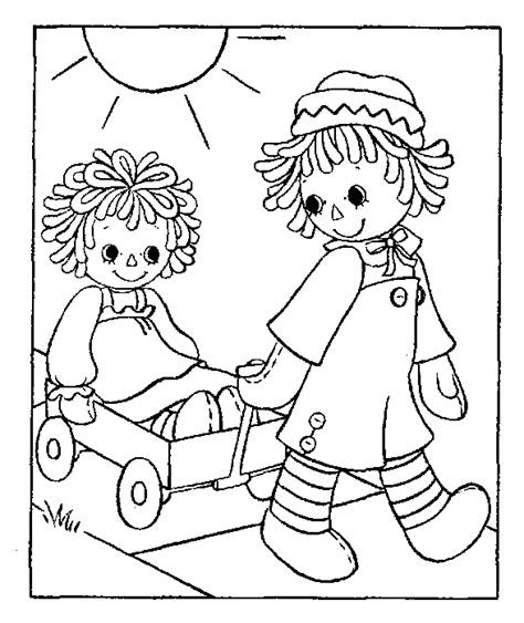 coloring book pages raggedy tripp of five 1st birthday raggedy and andy