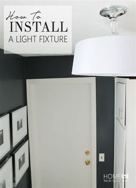 how to install a light bulb installing a light fixture