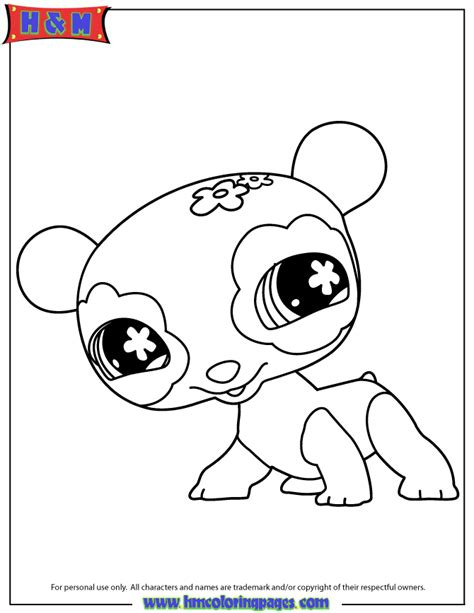 coloring pages of littlest pet shop dogs littlest pet shop panda coloring page