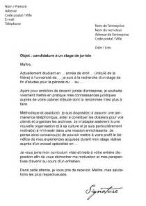 lettre de motivation stage 4eme annee document