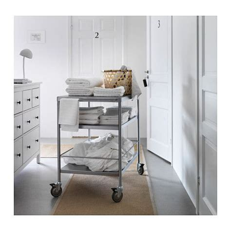 flytta kitchen trolley stainless steel 98x57 cm ikea flytta coffee carts coffee and extra storage