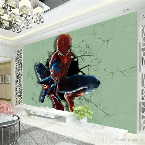 superhero wallpaper for bedroom 3d spiderman photo wallpaper superhero wallpaper boys kids