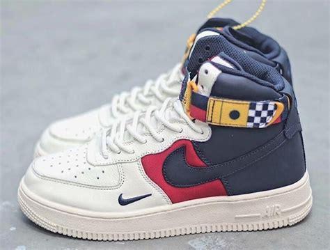 nike air force  high nautical redux white footlocker