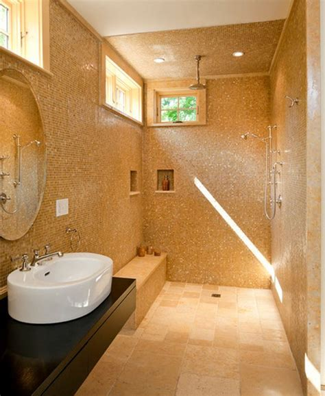 small bathroom open shower doorless shower designs teach you how to go with the flow