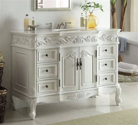 antique looking bathroom vanities adelina 48 inch traditional style antique white bathroom