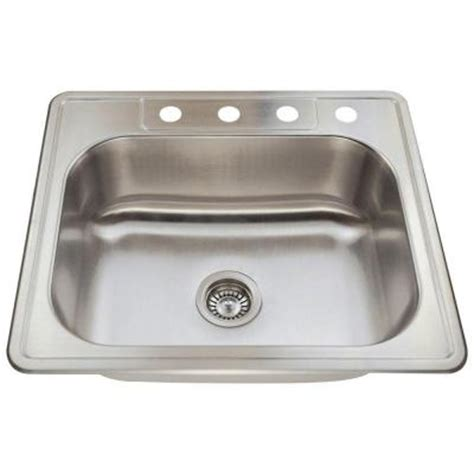 polaris sinks top mount stainless steel 23 in 4