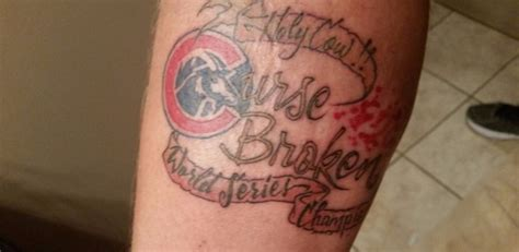 world series tattoo curse broken cubs fan gets 2016 world series wbez