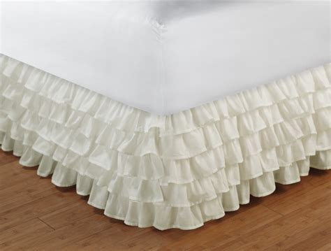 bed skirt full multi layer ruffled bed skirt full size bedding