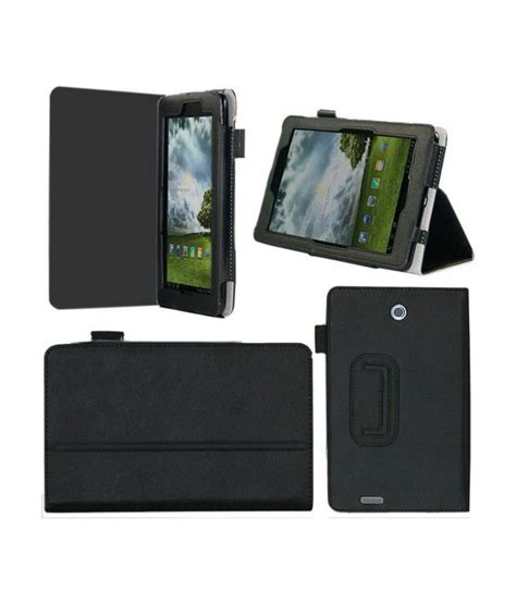 elip flip pu leather with stand for asus fonepad me371 7 quot tab tablet black magnetic