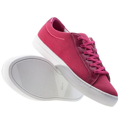 lacoste l 12 12 117 2 womens trainers in pink