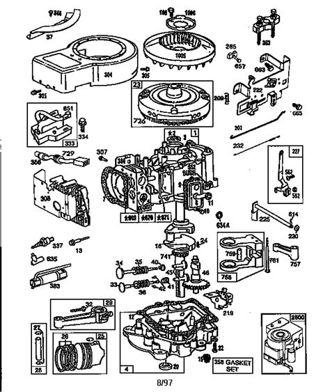 briggs and stratton lawn mower engine parts diagram briggs stratton engine briggs and stratton parts model
