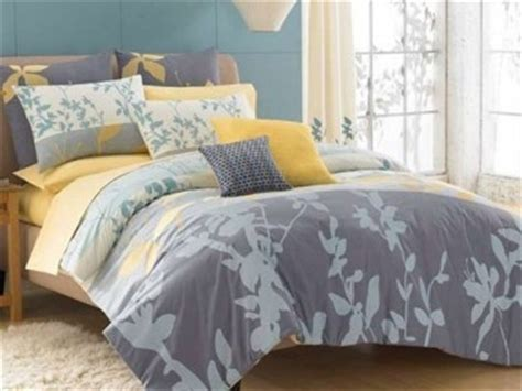 kas maysun grey yellow blue twin comforter set twin