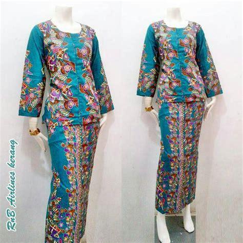 Rok Blouse Batik Setelan Pramugari jual rok blus pramugari airlines kerang setelan kebaya