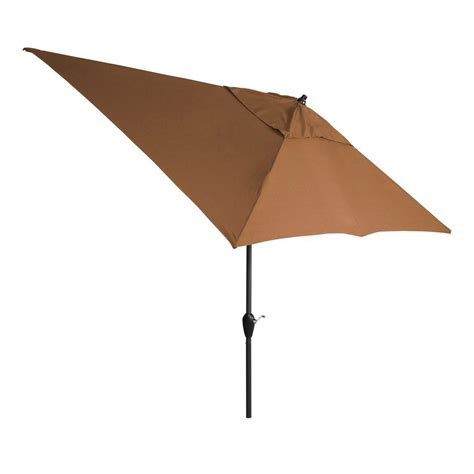 vinyl patio umbrella hton bay 10 ft x 6 ft aluminum patio umbrella in