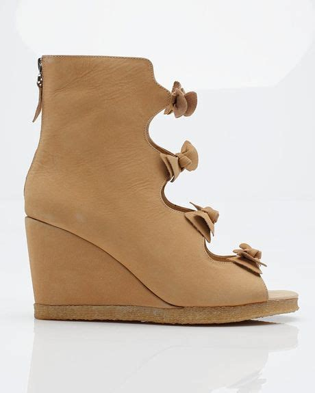 f troupe bow sandal wedge boot in brown sand lyst