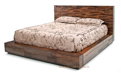 modern wood bed environmentally friendly bed stacked design platform