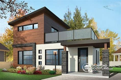 small house plans with second floor balcony w1703 2 storey 2 bedroom small and tiny modern house with deck on 2nd floor affordable