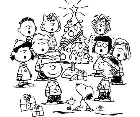 charlie brown christmas coloring page az coloring pages