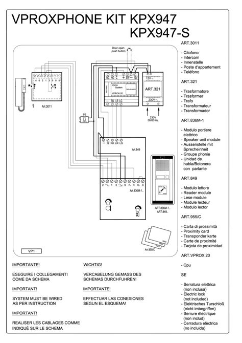 show wiring diagrams videx 800 series wiring diagrams