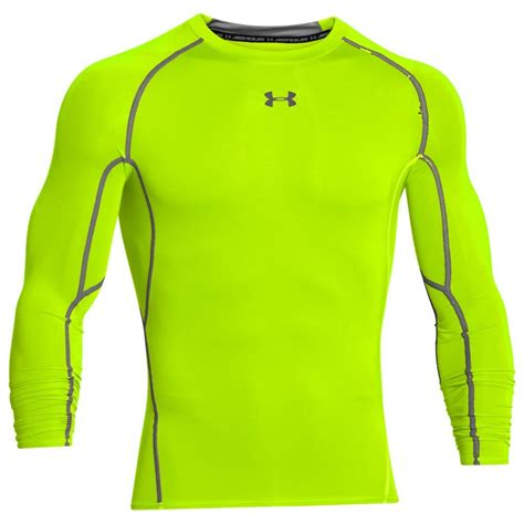 Original Compression Shirt Sleeve Vansydical Green armour 2018 mens heatgear armour longsleeve compression shirt baselayer ebay