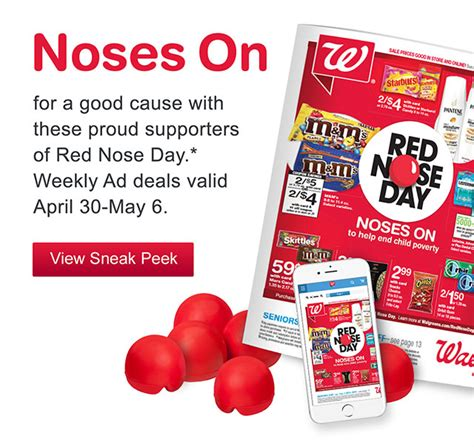 Shop For A Cause Productred Is More Than Tees by Walgreens Nose Day Deals More Offers Suggested