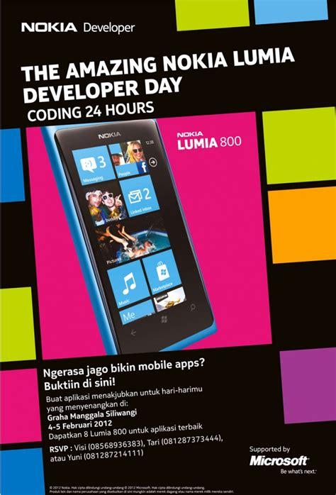 tutorial membuat poster event nokia lumia developer day ambisi microsoft untuk