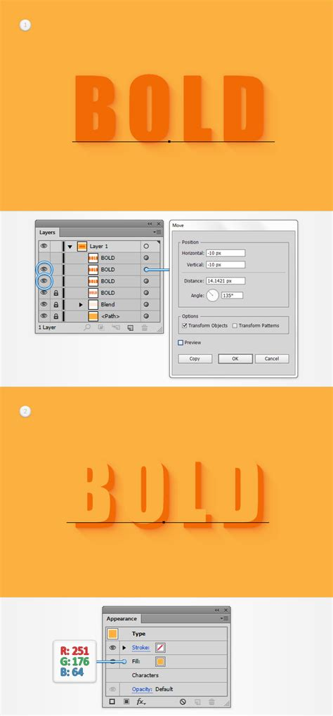 How To Create An Editable 3d Text Effect In Adobe Illustrator | how to create an editable 3d text effect in adobe illustrator