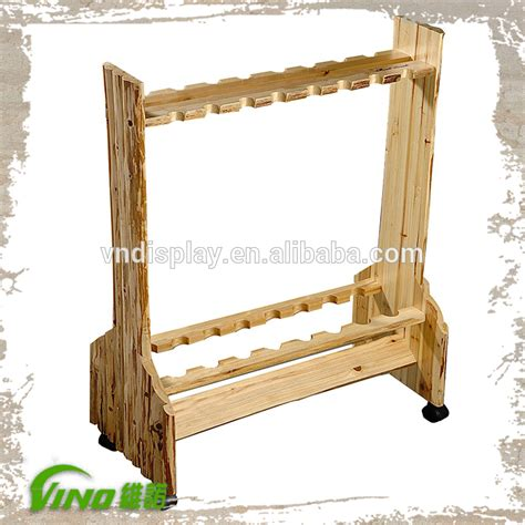 fishing rod display stand display rack fishing rods wooden