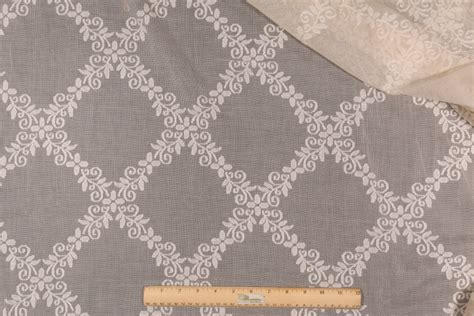 lace drapery fabric 5 8 yards beacon hill puncetto lace cotton sheer drapery