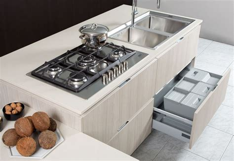 tempo lavello piano cottura fragranite cucine moderne