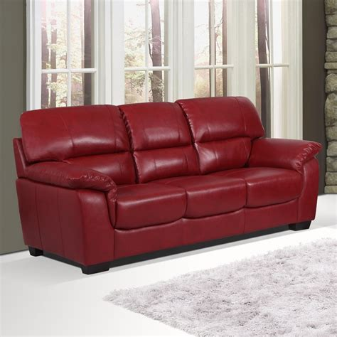 essington cranberry burgundy leather sofa collection