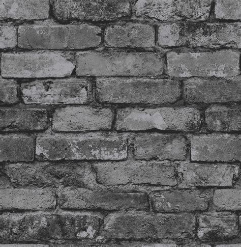 black and white brick wallpaper fine decor distinctive rustic brick wallpaper fd31284