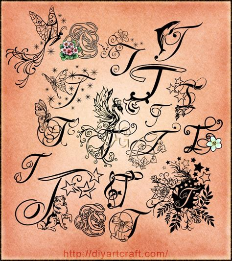t tattoos designs lettering t typography neat 2nd to bottom with leaf
