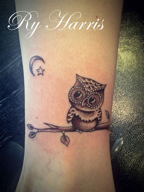 cute small owl tattoos ry harris89 owl ink owl ankle
