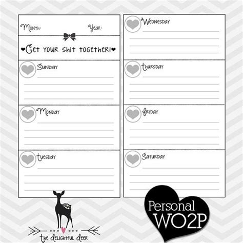 free printable planner pages personal size reserved for jasmyn p