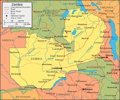zambia map zambia map and satellite image