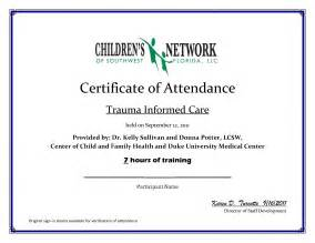 sample of certificate of attendance