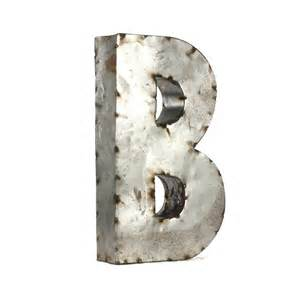Metal Letters For Wall Decor by Letter B Metal Wall Small 12 25w X 18h In Wall