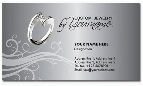 free jewelry card template 30 elegantly designed free business card templates