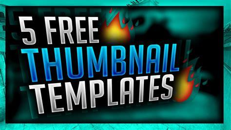thumbnail template 5 free gaming thumbnail templates 2016