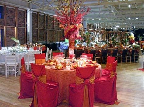 wedding table and chair decorations pink and orange together fuschia orange wedding