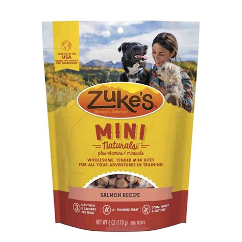 zukes treats zuke s mini naturals savory salmon recipe treats 6 ounces naturalpetwarehouse