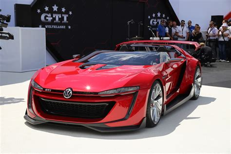 volkswagen supercar volkswagen gti roadster vision gran turismo revealed at