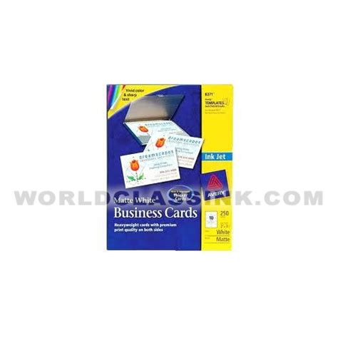 Avery Template Business Cards 8371 by Avery 8371 All Business Cards Blank