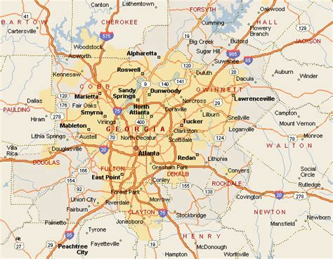 atlanta map in us atlanta map toursmaps