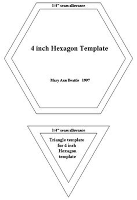 free paper piecing hexagon templates 6 inch hexagon pattern use the printable outline for