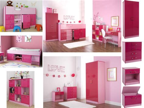 ottawa caspian pink gloss girls bedroom furniture wardrobe drawers beds sets ebay